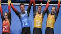Germany Wins Olympic Luge Team Relay