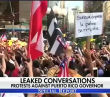 Leaked conversations spark protests against Puerto Rico governor