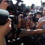 Tijuana residents protest migrant caravan