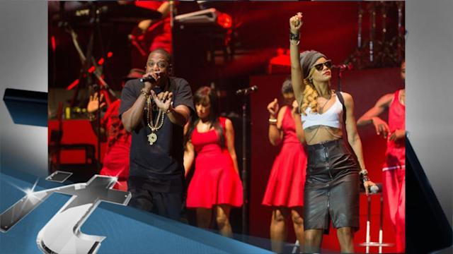 Europe Breaking News: Rihanna Surprises Fans By Joining Jay-Z Onstage At Wireless Fest!
