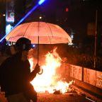 Anxious families wait outside besieged Hong Kong campus