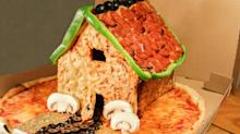 Forget Gingerbread. You Need to Build This Insane Pizza House