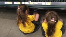 Mum defends daughters' time out on supermarket floor