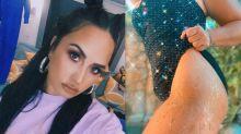 "Demi Lovato exibe estrias após compulsão alimentar: ""Comemorar meu corpo"""