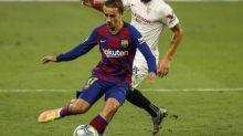 Foot - ESP - Barça - FC Barcelone: Antoine Griezmann a repris l'entraînement collectif