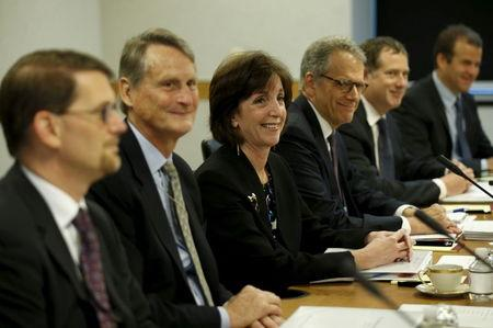 Assistant U.S. Secretary of State for Western Hemisphere Affairs Roberta Jacobson sits with her delegation at the fourth round of closed talks to re-establish diplomatic relations between the United States and Cuba at the State Department in Washington May 21, 2015. REUTERS/Kevin Lamarque