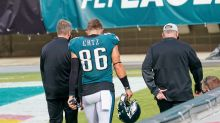 Eagles hobbled yet again with injuries to TE Zach Ertz, RB Miles Sanders