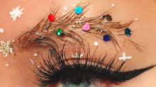 You can decorate your brows as well as your tree this Christmas