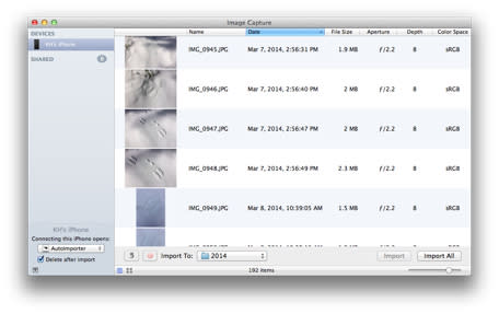 How to autoimport your iPhone photos using OS X's Image Capture