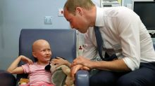 Prince William follows in Princess Diana's footsteps in visit to cancer hospital