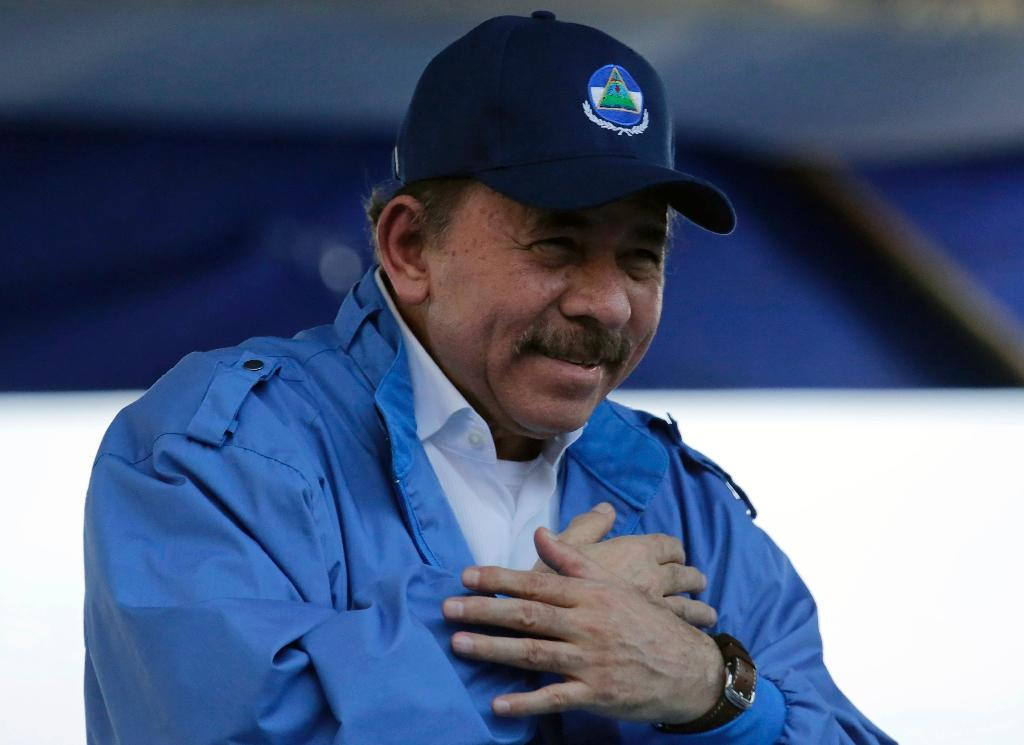 Nicaraguan President Daniel Ortega speaks to supporters last week; his government ordered out UN human rights monitors