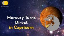 Mercury Turning Direct in Capricorn