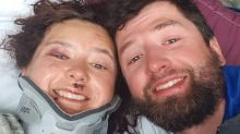 Talk about head over heels: Bride survives 1,000-foot fall on her honeymoon