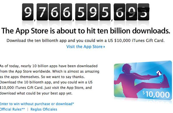 Apple nears ten billion downloads in App Store, should hit it without Verizon's help
