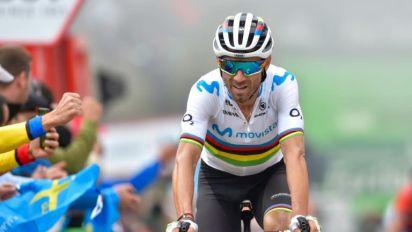 Valverde pone en juego su maillot arcoíris en el Mundial de Yorkshire