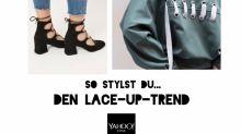 Style me up! by Jill Asemota: So stylst du den Lace-Up-Trend