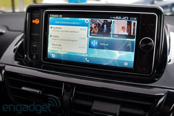 Nokia Drive with MirrorLink on Toyota Touch Life hands-on (video)