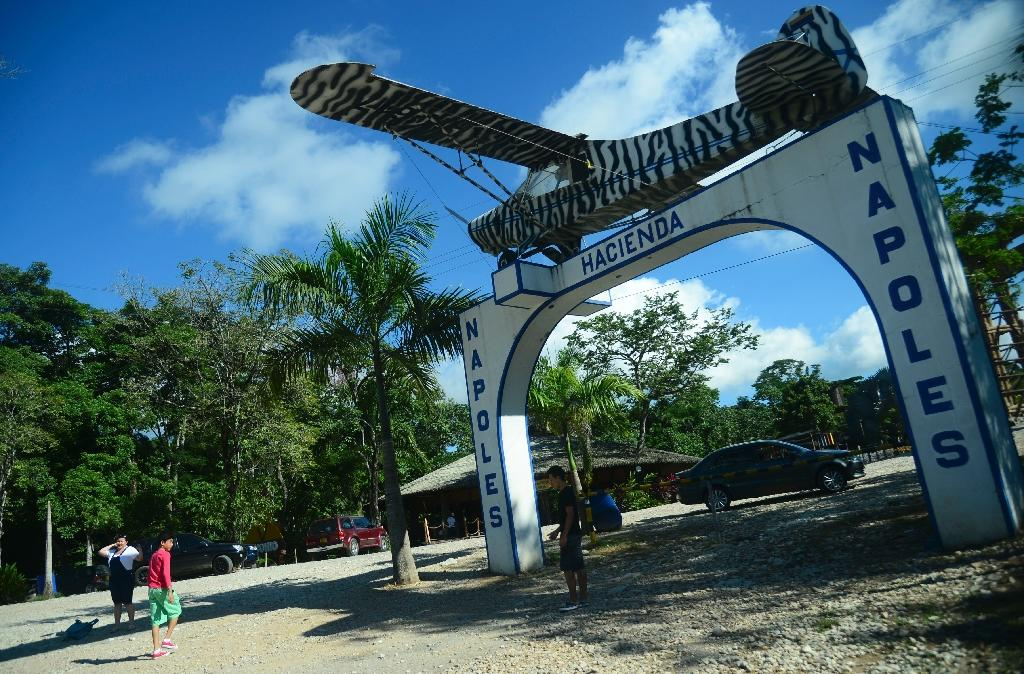 The entrance of the Hacienda Napoles theme park, once the private zoo of drug kingpin Pablo Escobar at his Napoles ranch in Doradal, Colombia's Antioquia department (AFP Photo/Raul Arboleda)