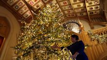 The Queen's just installed a 20ft Christmas tree in her castle
