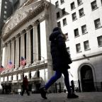 Stocks fall with tech shares; dollar touches lowest since late February