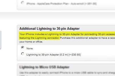 Apple's iPhone 5 will arrive with a free Lightning to 30-pin adapter (update: Apple officially says no it won't)