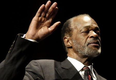 Marion Barry is sworn in as a city council member in Washington DC.