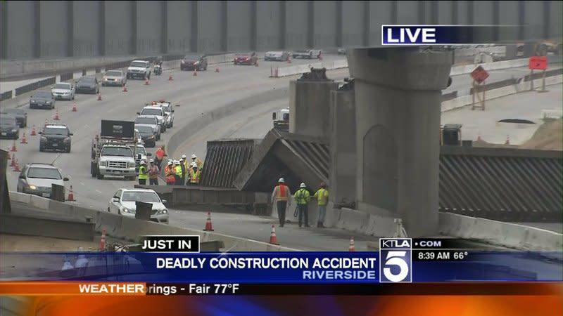 91 Freeway Nearly Shut Down in Riverside After Fatal Bridge Collapse