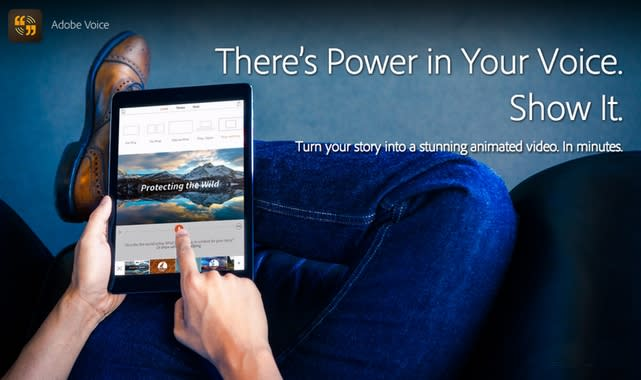 Adobe Voice for iPad creates audio, video presentations quickly and easily