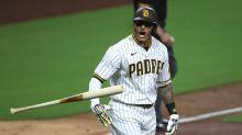 Manny Machado unleashes epic bat throw after hitting key homer vs. Dodgers
