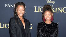 New 'Little Mermaid' Star Halle Bailey and Sister Chloe Hit 'The Lion King' Premiere