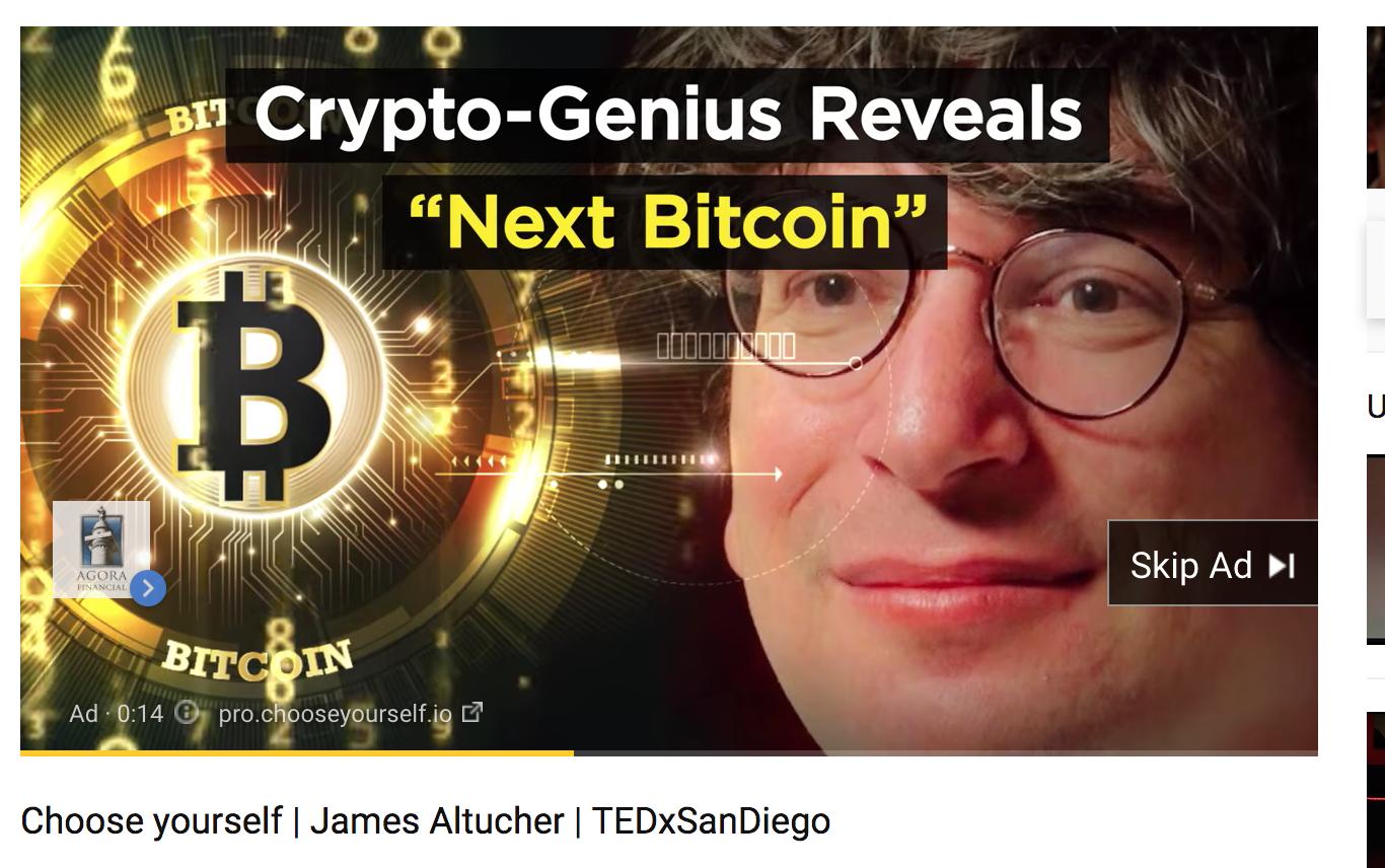 James Altucher - 'bitcoin genius' ads