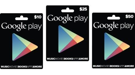 Google Play gift cards officially announced, now rolling out to Target, RadioShack and GameStop