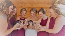 Woman Replaces Bouquets at Wedding With Rescue Puppies: 'They Were a Huge Hit'