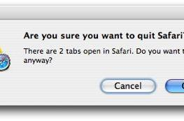 All the little things: Safari quit dialogue