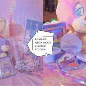 滿滿少女心爆發!ROMAND X NEON MOON 推出聯名彩妝,粉紫色包裝簡直太夢幻~