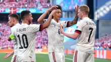 Soccer-Hazard, De Bruyne, Witsel to all start Belgium's next Euro game