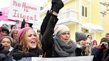 The best celebrity photos from the Women's March