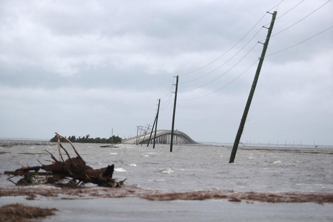 Hundreds feared to be trapped in 'catastrophic flooding' on Ocracoke Island