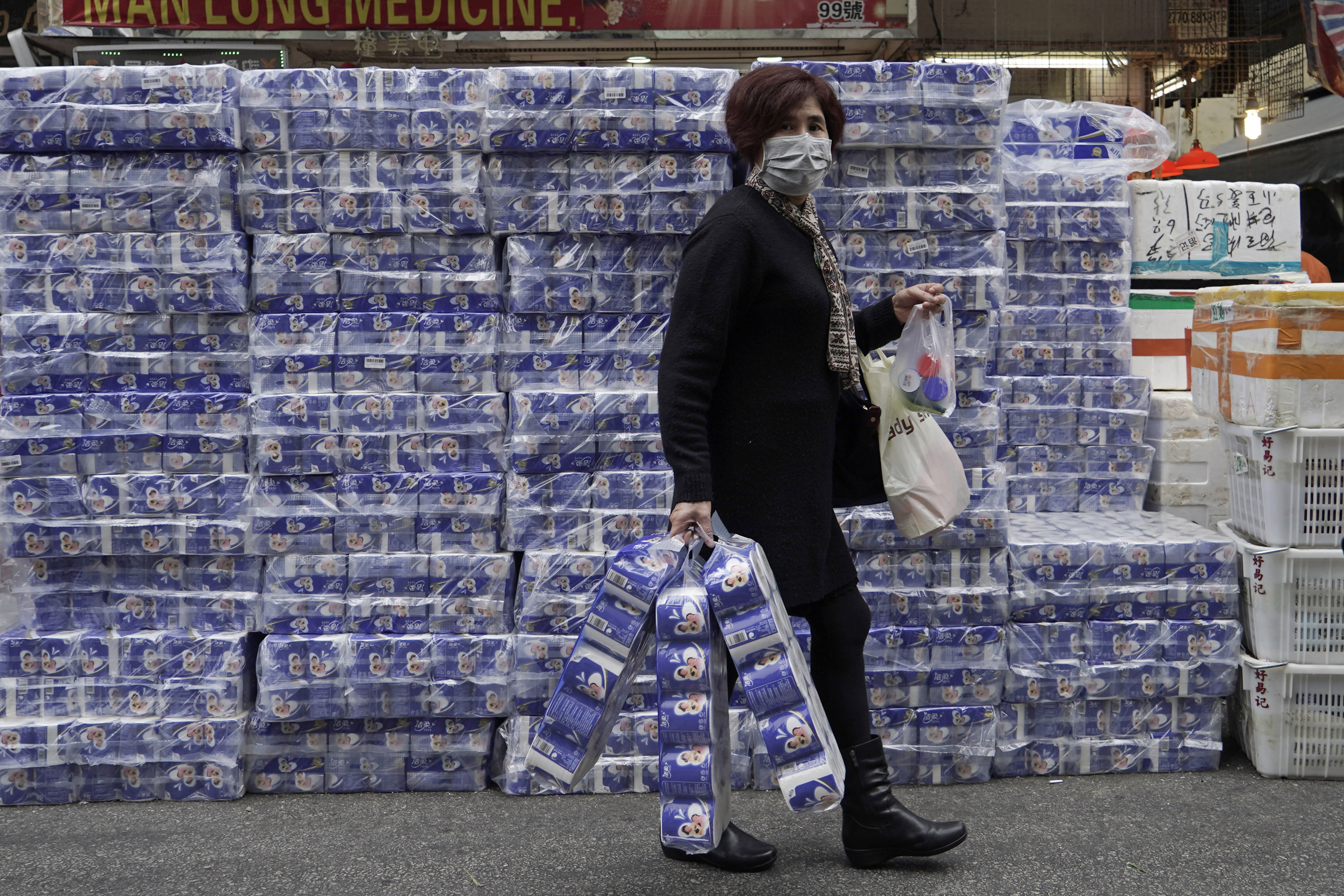 Thieves in Hong Kong steal 600 toilet rolls as coronavirus fears spark a national shortage