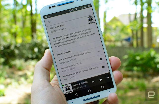 Find and play podcasts in the Android Google app