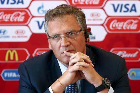 Imagen de archivo. El ex secretario general de la FIFA, Jerome Valcke en una conferencia de prensa en Samara