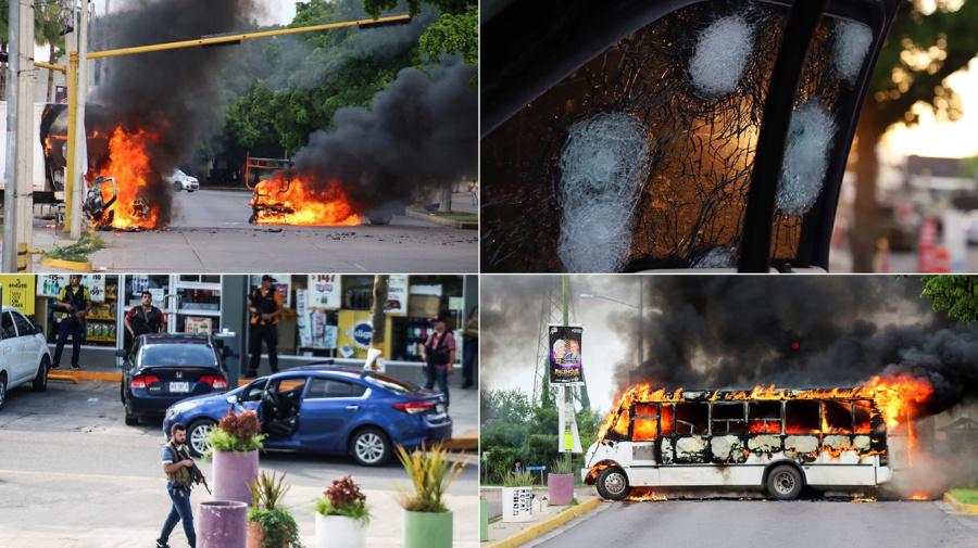 FOTOS   Terror en Culiacán tras hallar al hijo del Chapo