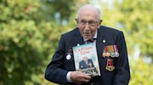Captain Sir Tom Moore jokes as he launches his autobiography