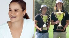 'What a star': Fans stunned as Ash Barty wins golf championship