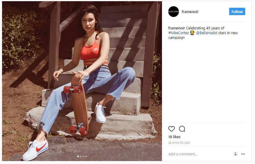 Hadid Nike's Campaign The Of Face Og Cortez Milestone Bella A4j3L5qR