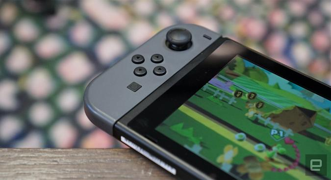 Nintendo Switch playing 'Yoshi's Crafted World'