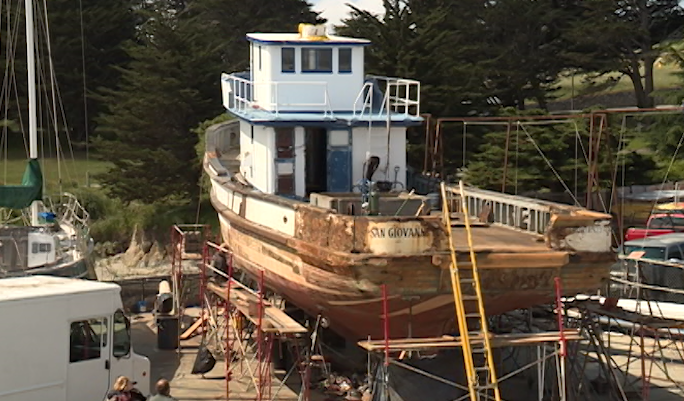 Monterey S Last Large Wooden Fishing Boat Getting Tlc