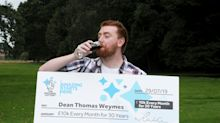 Lottery winner, 24, scoops £10,000 a month for 30 years