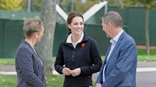 Pregnant Duchess of Cambridge dons tracksuit for tennis game
