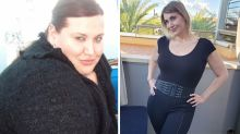 Woman unrecognisable after dropping half her body weight